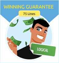 Icons group game megamillions winning guaranteed 75 lines