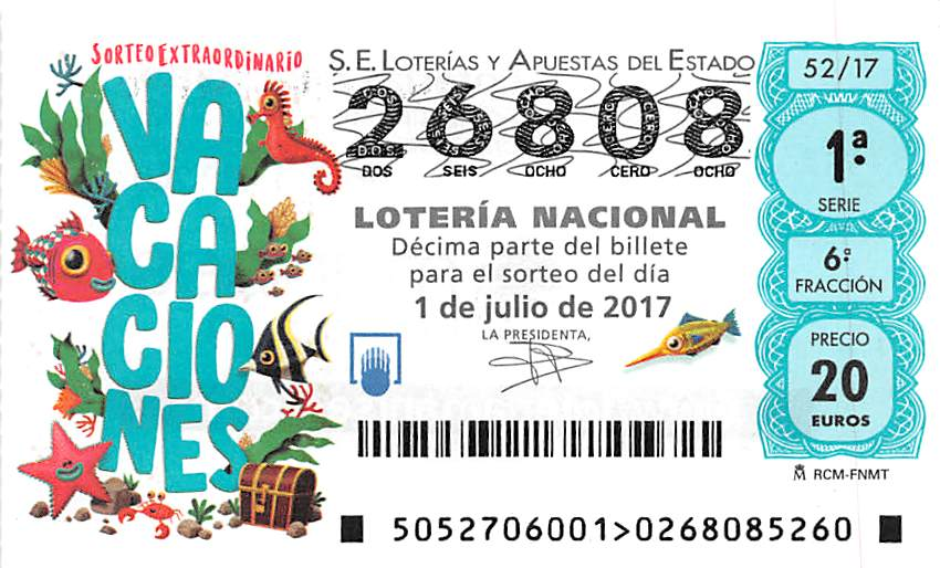 Spanish Summer Raffle ticket