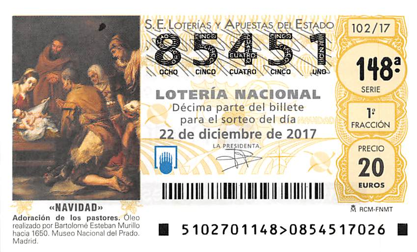 The Lotería de Navidad is the second longest consecutive running lotto game in the world!